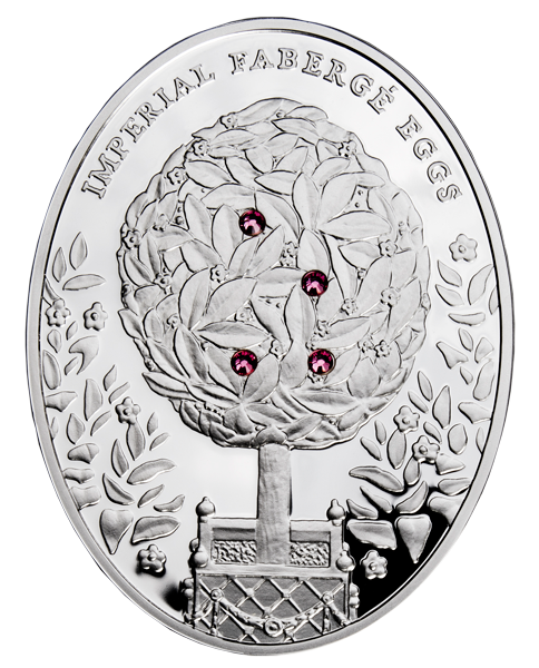 Faberge  Bay Tree Egg Silver Coin 2 dollars Niue Island 2012