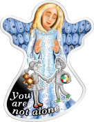 You are not Alone Silver Coin Angel Shaped 2018