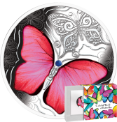 Red Butterfly 2020 Silver Coin 500 francs CFA Mint of Poland