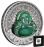 Laughing Buddha 2019 1oz Silver Coin with Jade Insert 1 dollar Tuvalu Perth Mint
